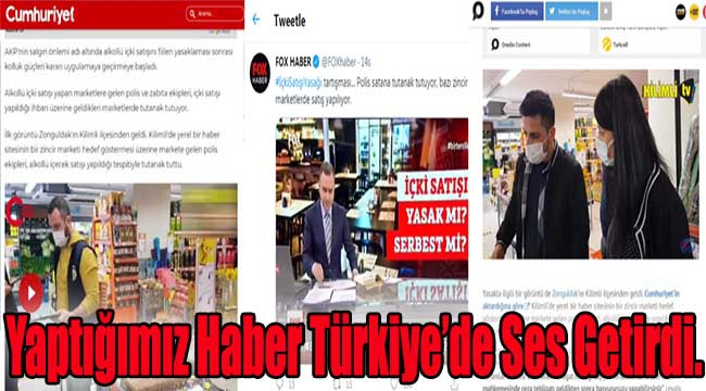 Yaptığımız Haber Türkiye'de Ses Getirdi.